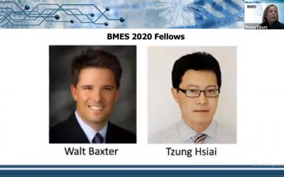 Tzung Hsiai and Walt Baxter inducted as BMES Fellows